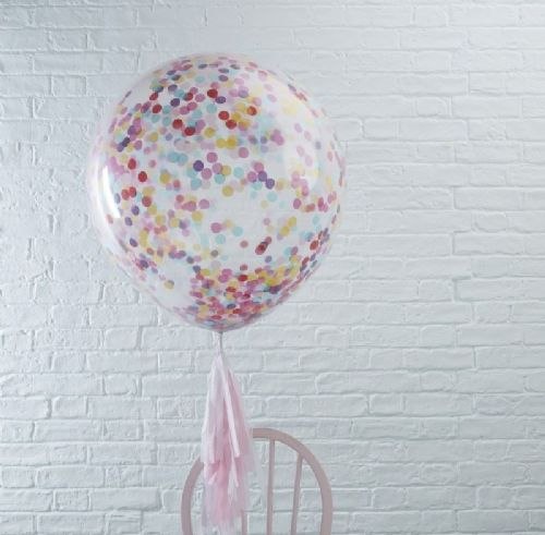 "Pick & Mix Giant Coloured Confetti Balloons - 36"" Latex (3pk)"